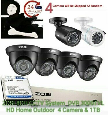 AU349.99 • Buy CCTV 8Channel Security Camera System 1080P HDMI DVR 3000TVL HD Home Outdoor 1TB