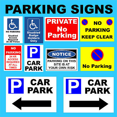£5.49 • Buy No Parking Plastic Sign, Sticker -Disabled, Private, Driveway, Disabled, Outdoor