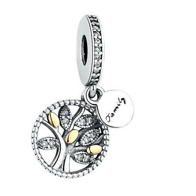 AU27.50 • Buy Family Tree Gold S925 Sterling Silver Charm Pendant By Charm Heaven