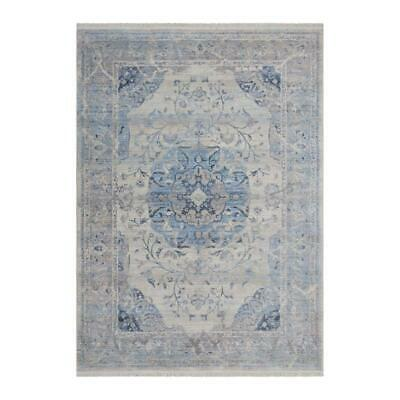 Lalee Vintage VIN701 Faded Floral Pattern Machine Woven Rug Blue 200 X 290cm • 126.49£