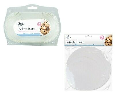 Loaf Tin Liners Cake Tin Liners Baking Case Cooking Paper Non Stick Grease Proof • 4.99£