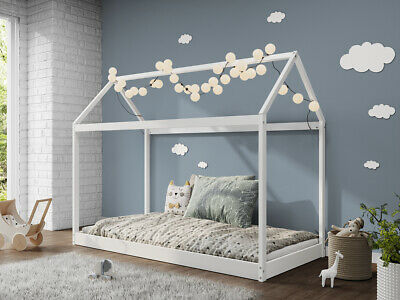 Treehouse Single Bed Wooden Frame 3FT Kids Sleeper Pine House Low Childs Canopy • 134.99£