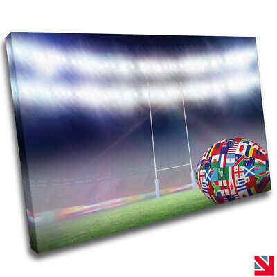 £11.99 • Buy Rugby Sports CANVAS Wall Art Picture Print A4