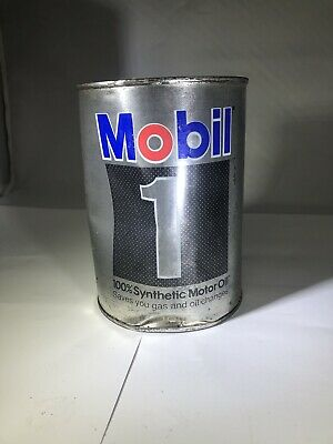 $ CDN10.24 • Buy Vintage Mobil 1 Synthetic 5w30, Motor Oil Quart Can, FULL, Metal Can,