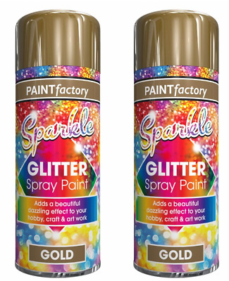 Sparkle Glitter Gold Silver Spray Paint Sparkling Finish Creative Craft Art200ml • 4.99£