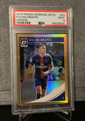 $ CDN205.41 • Buy 2018-19 Panini Donruss Optic Orange Holo Prizm Kylian Mbappe /99 PSA 9