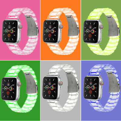 $ CDN9.55 • Buy Transparent Watch Band Strap For Apple Watch IWatch 5 4 3 2 1 38/40/42/44mm