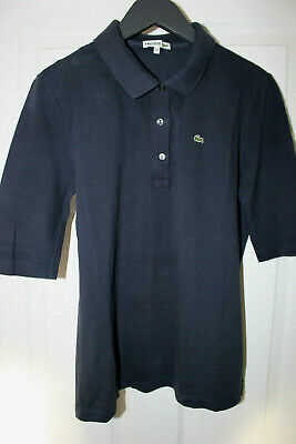 Womens LACOSTE 3/4 Sleeve Polo T Shirt. Size 44 / L • 20£