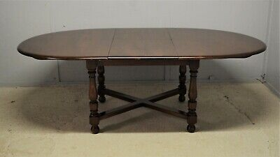 Dining Table Ercol Woburn D End Extending Elm Dark Wooden Delivery Available • 245£