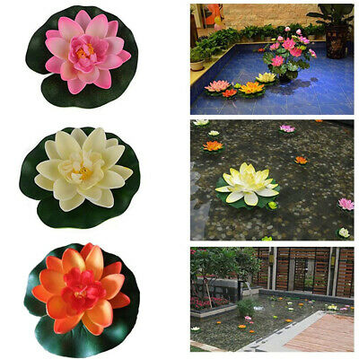 $ CDN12.68 • Buy Realistic Artificial Lotus Flower Water Floating Pond Pool Aquarium Decoration