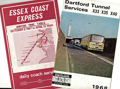 Eastern National Express Coach Timetable Leaflets X 11 • 3.99£