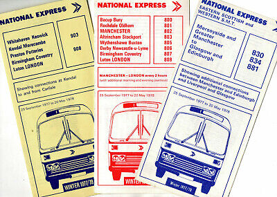 National Express Coach Timetable Leaflets X 11 • 1.99£