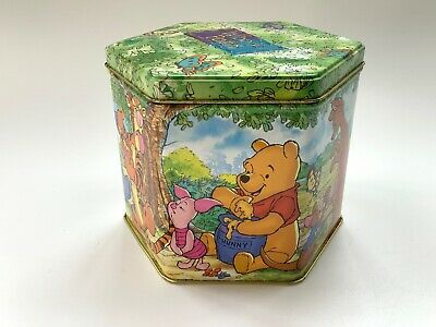 Official Disney Winnie The Pooh And Friends Sweet Empty Hexagon Shape Tin • 7£