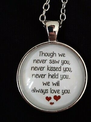 £5.50 • Buy Baby Memorial Charm Baby Loss/ Miscarriage/grief Silver Plated Necklace Gift