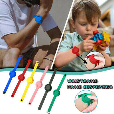 Silicone Bracelet Band Portable Soap Dispenser Hand Wash Gel Squeeze Wristband • 2.49£