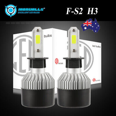 AU27.31 • Buy H3 72W 8000LM LED Car Fog Light Conversion Globe Bulbs Beam Head Lamp 6500K AU