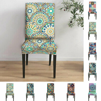 AU11.29 • Buy 1/4/6PCS Dining Chair Cover Stretch Morocco Slipcover Wedding Banquet Seat Cover