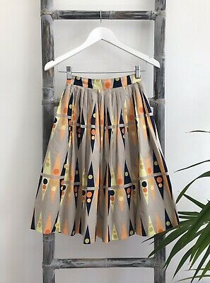 AU25 • Buy Gorman Cotton Printed Pleated Skirt With Pockets - Size 6