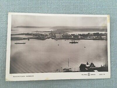 Titanic & Olympic Interest - RP Postcard Queenstown Harbour - Posted 1910 • 5£