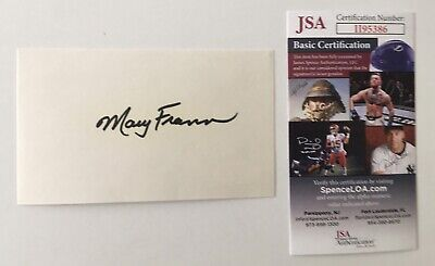 $ CDN133.43 • Buy Mary Frann Signed Autographed 3x5 Card JSA Certified Newhart