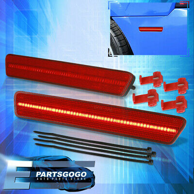 $33.99 • Buy For 99-04 Ford Mustang SN95 Red LED Rear Bumper Side Marker Parking Lights Lamps
