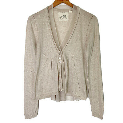 $ CDN45.04 • Buy Anthropologie Angel Of The North Womens Cardigan Sweater Taupe Size Medium M