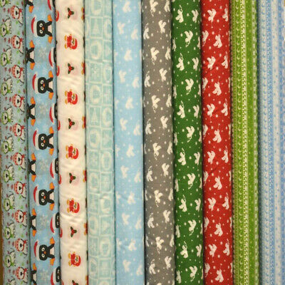 NEW Christmas Printed PolyCotton Quality Material Poly Cotton Fabric Per Metre • 3.89£