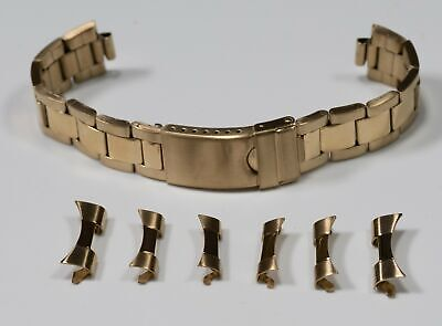 $ CDN32.30 • Buy Oyster Curved End Gold Plated Steel 18mm - 22mm Watch Bracelet Rolex Band Strap