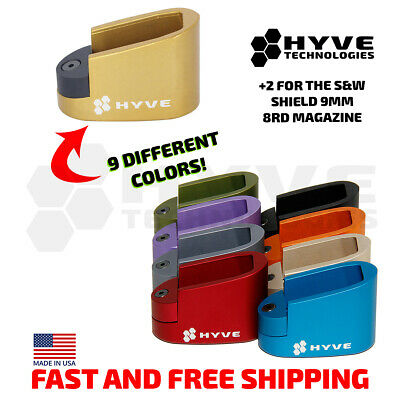 $29.99 • Buy Hyve Technologies Plus 2 Mag Extension For The Smith And Wesson M&P Shield 9mm