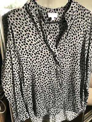 AU35 • Buy Witchery Green Leopard Blouse Size 4
