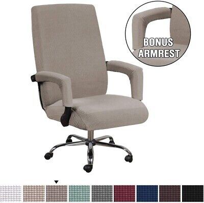 AU19.15 • Buy Office Chair Cover High Stretch Computer Seat Chair Protector With Arm Covers