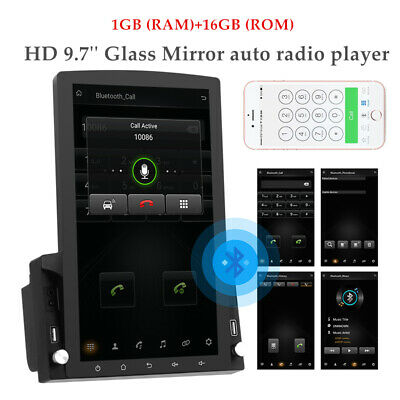 $197.99 • Buy 9.7'' Vertical Screen HD 2.5D Glass GPS Navigation Car MP5 Player Android 9.0