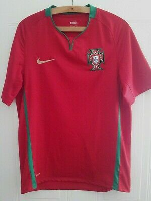 Portugal Football Shirt Euro 2008 Nike Home Soccer Jersey Top Camiseta Mens Size • 39.99£