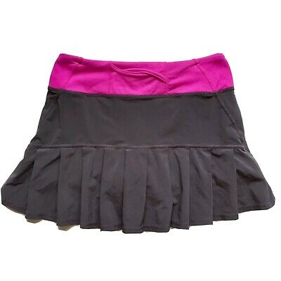 $ CDN54 • Buy Free Shipping Lululemon Pace Rival Skirt Size 2 Lined Tennis Golf Grey Pink