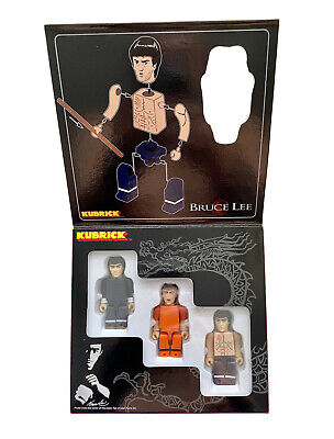 $34.99 • Buy Bruce Lee Kubrick 100% Figure Set 3pcs Medicom Toys Japan Bearbrick Be@rbrick