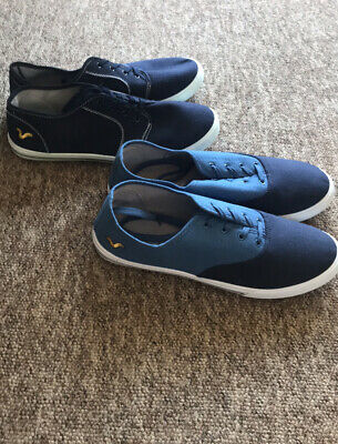2x Pairs VOI Jeans LOW CANVAS SHOES PUMPS, Plimsoles  Trainers Size 10 UK, New • 14.99£
