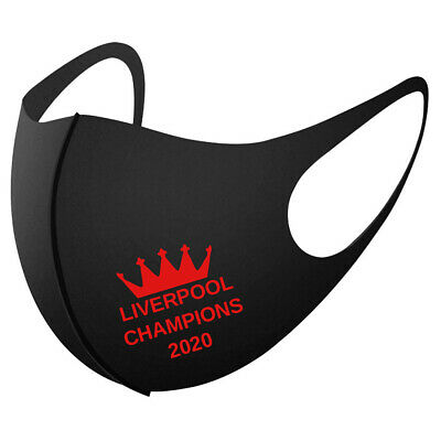 LIVERPOOL CHAMPIONS FACE MASK 2020 Football League Printed Reusable Club • 3.99£