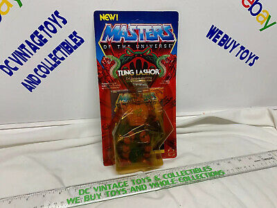 $249.99 • Buy Masters Of The Universe MOTU TUNG LASHOR He-Man MOC SEALED Painted Back Variant
