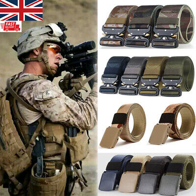 £6.29 • Buy Mens Outdoor Tactical Camo Belt Army Military Nylon Belt Safety Combat Waistband