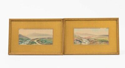 £218.86 • Buy Pair Of Antique Framed Paintings Of Dartmoor, United Kingdom Signed 12-3/4  W