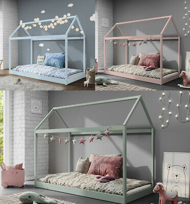 £89.99 • Buy Treehouse Single Bed Frame 3FT Kids Sleeper Wooden House Low Childs Canopy Bed