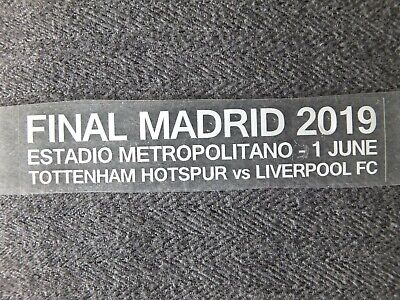 £9.99 • Buy Liverpool UEFA Champions League Final Madrid 2019 Match Details - Iron On WHITE
