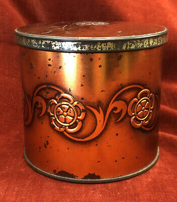 Vintage Copper Coloured Biscuit / Sweet Tin • 7.99£