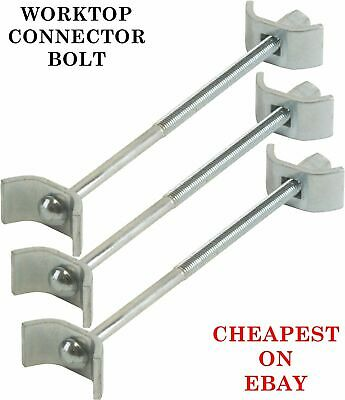 3 X Kitchen Worktop Connecting Bolts Joining Joint Clamps Butterfly Connector • 1.84£