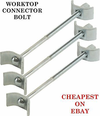 3 X Kitchen Worktop Connecting Bolts Joining Joint Clamps Butterfly Connector • 2.24£
