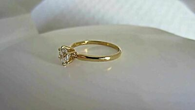 Vintage 18 K White Gold Sapphire Diamond 1 2 Ct Solitaire Engagement Ring • 29.99£