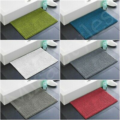 Luxury Soft Chenille Loop Bobble Design Bath Shower Bathroom Mat Rug Non Slip • 7.49£