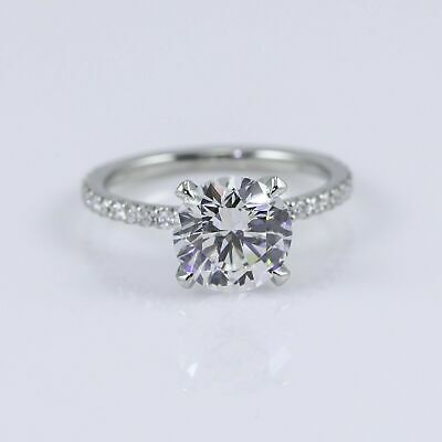 2ct Diamond Engagement Ring 18ct White Gold Over • 29.99£