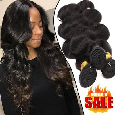 £49.34 • Buy 100% Unprocessed Bundles Weft Real Virgin Human Hair Extensions Brazilian THICK