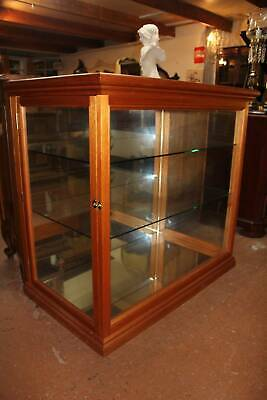 AU795 • Buy A Solid Oak Mirrored Showcase Display Cabinet  *FREE DELIVERY *T&C's